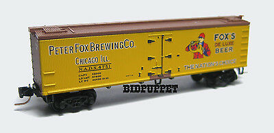 Z-Scale MTL #518 00 290 Peter Fox Brewing 40' Wood Ice Reefer Micro-Trains NEW