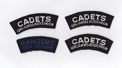 4 RARE Vintage Sea Rangers Cadets Girl Guides Badges Patches 1950s