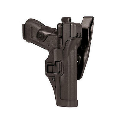 Blackhawk 44H106PL-R Plain Black RH Level 3 SERPA Sig P220 P226 Duty Gun Holster