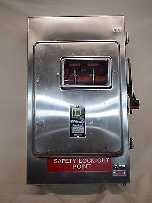 Square D Chu364Ds  Hu364Ds Stainless Steel Safety Switch 200A 600V  (W2B4)