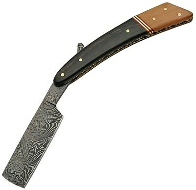 "Damascus 1116WN Straight Razor 4"" Extended Tang Blade 6.25"" Closed"