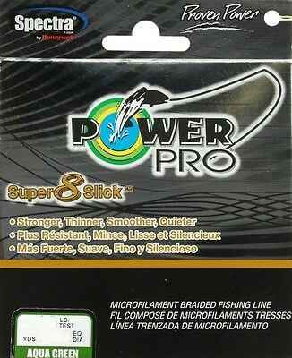 Power Pro 31100200300Q Micro Braid Line 20 lb X 300 Yd Aqua Green Super Slick