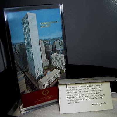Canadian Imperial Bank Commerce CIBC Commerce Court Toronto Glass Paperweight