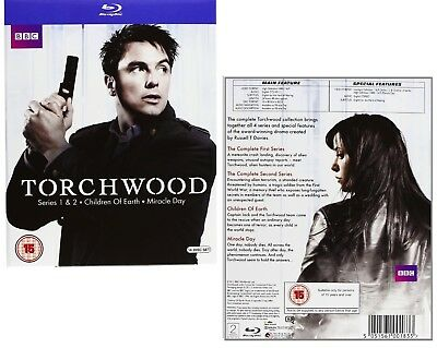 TORCHWOOD 1-4 (2006-2011) COMPLETE+CHILDREN OF EARTH+MIRACLE DAY RgFree BLU-RAY