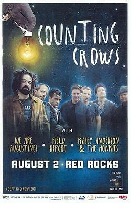Counting Crows Red Rocks 2012 Concert Poster