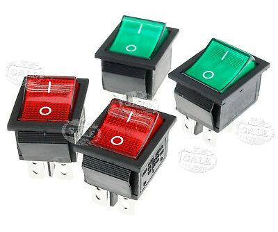 4Pcs Red&Green 4Pin Rocker On/Off Switch 16 A 250V 0-I Sign CE Marked