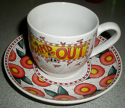 Mary Engelbreit Tea Cup - Be Warm Inside and Out - Red Roses