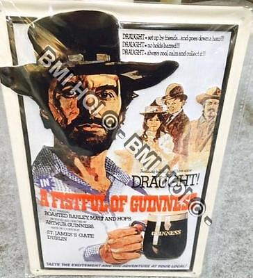 """A Fistful of Guinness on Metal sign 12"""" x 8"""" inches - Humorous sign"""