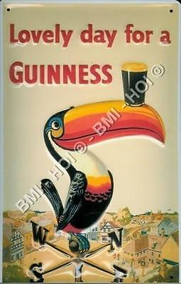 "Guinness - Toucan Gilroy poster on Metal Sign 12"" x 8"" inches IMMEDIATE SHIPMENT"