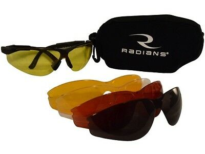 Radians T85RC Shooting Glasses Black Frame 5 Interchangeable Lenses