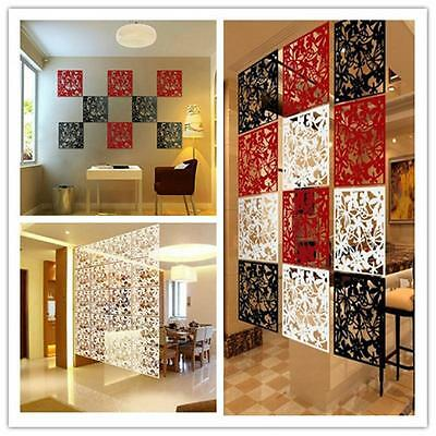 1PC Plastic Hanging Screen Partition Room Divider Wall Sticker Art Home Decor SO