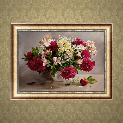 Carnations 5D Diamond Embroidery DIY Painting Cross Stitch Mosaic Home Decor