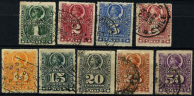 Chile 1878-99 Christopher Columbus x 9 Used Stamps #D37478