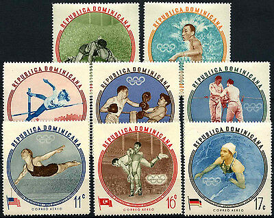 Dominican Republic 1960 SG#813-821 Olympic Games MNH Set #D37609
