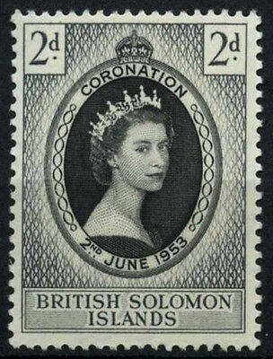 Solomon Islands 1953 SG#81 QEII Coronation MNH #D36429