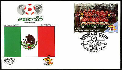 Union Island 1986 Hungary World Cup Football Cover #C38402