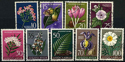 Yugoslavia 1957 SG#844-852 Flowers Used Set #D36739