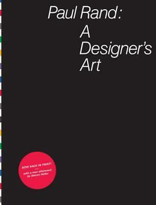 Paul Rand: A Designer's Art by Paul Rand (English) Hardcover Book Free Shipping!