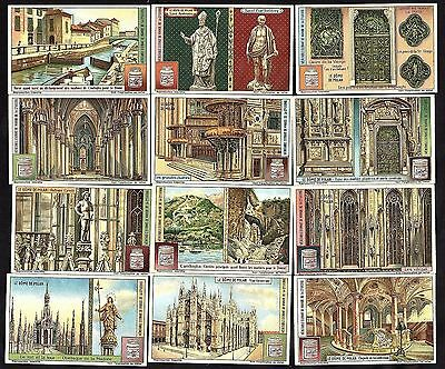 Cathedral Of Milan Rare 12 Card Set Liebig 1924  Dome Italy Chapel Religion Sain