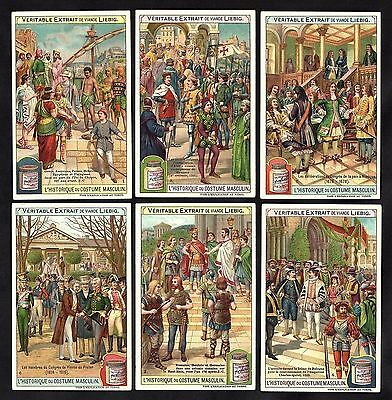 History Of Male Fashion French Card Set Liebig 1907 Costume Clothes Textiles