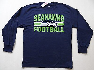 NFL Langarm Shirt SEATTLE SEAHAWKS navy Football Long sleeve LS Heart and Soul