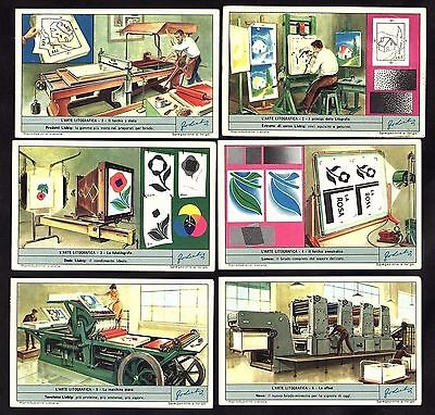Lithographic Printing 1964 Liebig Cards Set Press Art Typeset Photography