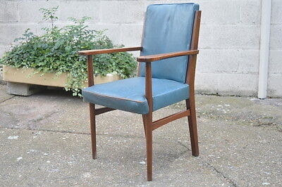 Retro Teak/Mahogany 1950's Office Armchair Turnercraft Stoke On Trent