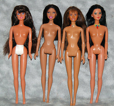 Lot of (4) Multicultural  Ethnic Mattel Barbie Fashion Doll Bodies - OOAK-AA