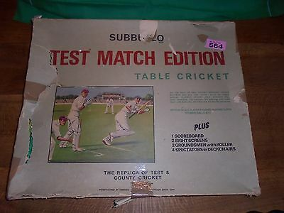 Subbuteo Test Match Cricket Complete Table Top Cricket Game 1970s lot 564