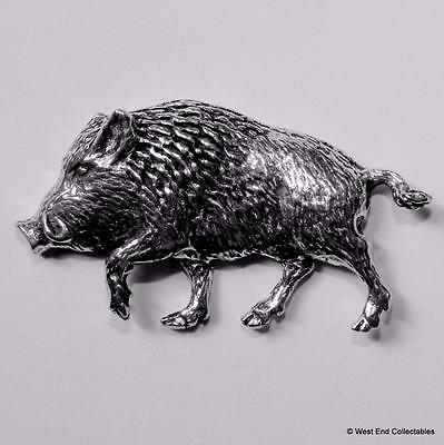 Chargeur Sanglier Étain Broche - Britannique Artisan Made-Pig Hunting Sauvage