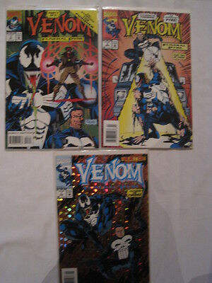 "Venom : ""funeral Pyre"" : Complete 3 Issue Series. Spiderman. Marvel.1993"
