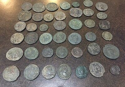 Ancient Roman Lot of 44 Coins. Better Type, Good Study Group. All Bronze