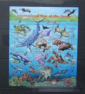 United Nations 1998 International Year of Ocean Miniature sheet MNH