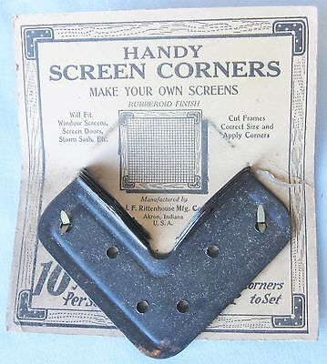 4 Window Screen Corners Make Your Own Window Screens Vintage For Storm Windows