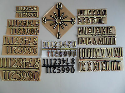 Clock Numerals **choices** Self Adhesive Clock Numbers - Roman & Arabic (1-12)