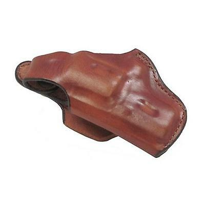 """Bianchi 5BH Thumbsnap Hip Holster 2"""" Barrels Size 1 Right Hand Leather Tan"""