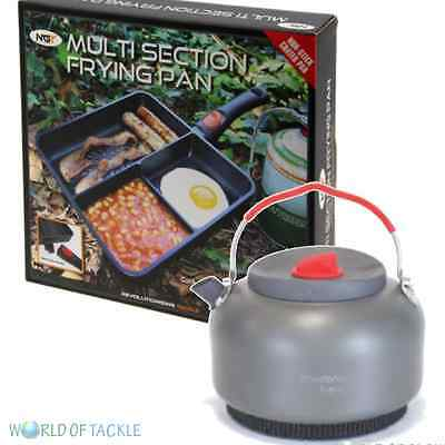 NGT Multi Section 3 Way Frying Pan & Fast Boil Kettle Carp Fishing Tackle