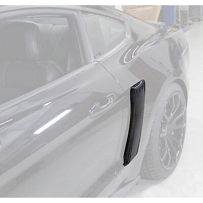 Mustang Quarter Panel Side Scoops Unpainted pair 2015-2017