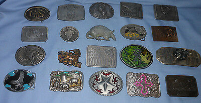 BELT BUCKLE LOT - 20 Buckles -- Good Buckles -- Vintage & Others.