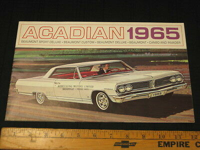 1965 Pontiac BEAUMONT Acadian Catalog Car Sales Brochure