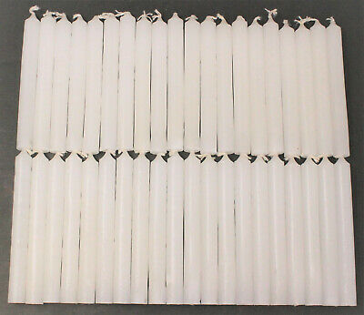 """40 Mini 4"""" Chime Spell Candles: White (Wicca, Altar, Ritual) 2 x 20"""