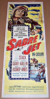 Sabre Jet (1953) Robert Stack * Great Original 14X36 Insert Poster