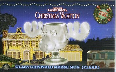 National Lampoon's Christmas Vacation Movie Griswold 8 oz Glass Moose Mug, BOXED