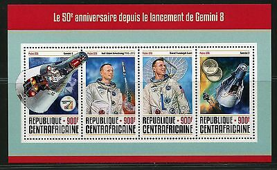 CENTRAL AFRICA  2016 50th ANNIVERSARY OF THE LAUCH OF GEMINI 8  SHEET MINT NH