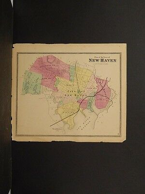 Connecticut, New Haven County Map, 1868 Town of New Haven !Z3#49