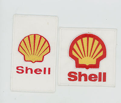 2 Old Shell Petrol  Cloth Patches