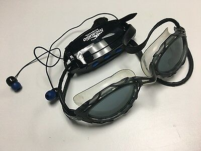 INTERVAL Black Waterproof Earbud Headphone System With Adjustable Goggles B3027