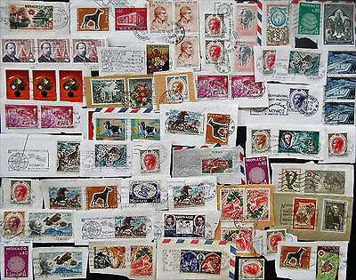 Interesting Mix Of On Paper Stamps From Monaco