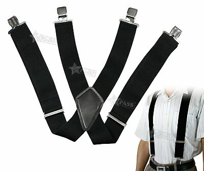 50mm Unisex Mens Women Braces Durable Wide & Heavy Duty Suspenders Adjustable