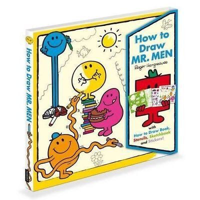 NEW  HOW TO DRAW MR MEN with book STENCILS SKETCHBOOK STICKERS